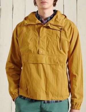 SUPERDRY vīriešu dzeltena jaka ar kapuci MOUNTAIN OVERHEAD JACKET