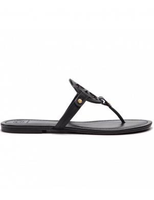 TORY BURCH sieviešu melnas čības - sandales pār pirkstu MILLER
