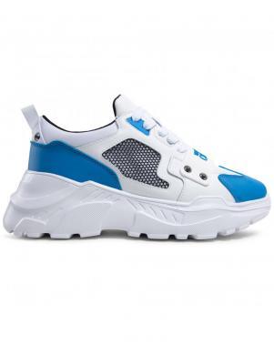 VERSACE JEANS COUTURE vīriešu balti - zili ikdienas apavi LINEA FONDO SPEED DIS. SC4