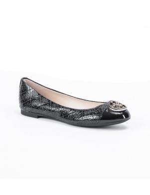 GUESS sieviešu melni lakotas ādas balerīnas apavi