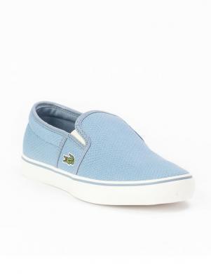 LACOSTE sieviešu zilgani tekstīla ievelkamie apavi