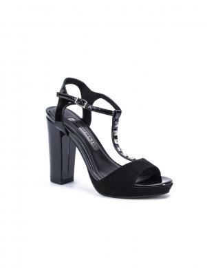 TAMARIS sieviešu melnas augstpapēžu stilīgas sandales