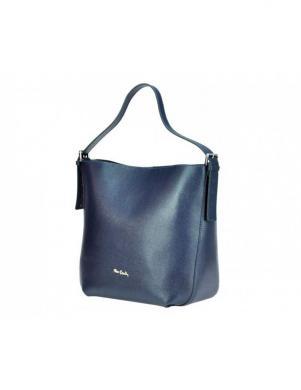 PIERRE CARDIN zila ādas sieviešu soma