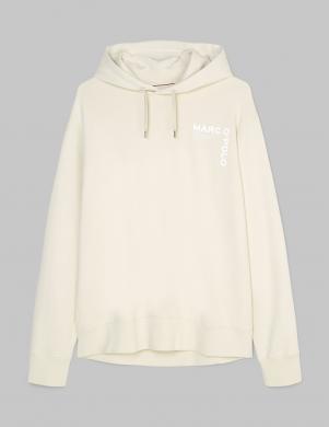 MARC O POLO vīriešu balts džemperis ar kapuci