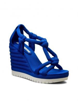 Sieviešu zilas sandales ar augstu platformu CALVIN KLEIN