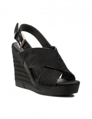 Sieviešu melnas sandales ar augstu platformu CALVIN KLEIN