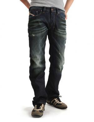 DIESEL vīriešu tumši zili džinsi