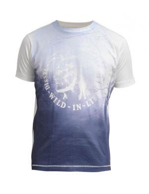 DIESEL zils vīriešu krekls ar aplikāciju