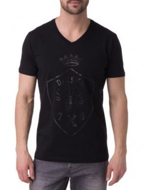 DIESEL melns vīriešu krekls