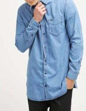 DIESEL zils vīriešu krekls