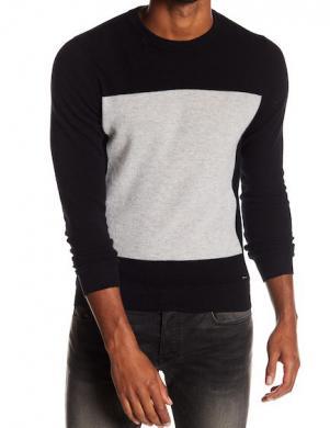 DIESEL melns vilnas vīriešu džemperis
