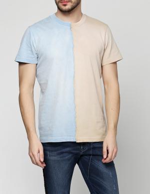 DIESEL zils/smilšu vīriešu krekls