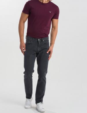 Pelēki vīriešu džinsi GANT