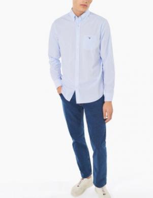 Gaiši zils vīriešu krekls GANT
