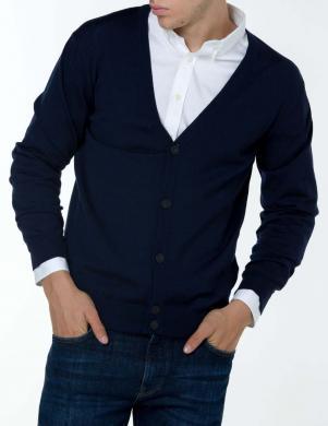 Tumši zils vilnas vīriešu džemperis GANT