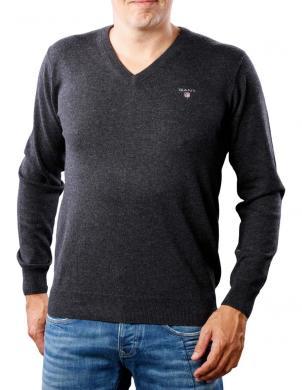 Tumši pelēks vīriešu džemperis ar vilnu GANT