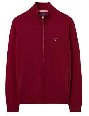 Tumši sarkans vilnas vīriešu džemperis GANT