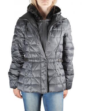 GEOX pelēkas krāsas dūnu sieviešu jaka ar kapuci