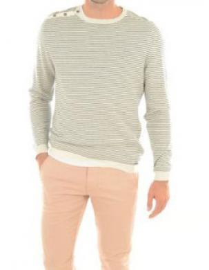 GUESS vīriešu svītrains džemperis no lina