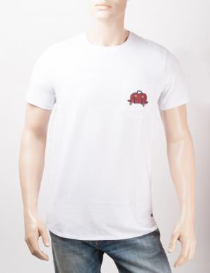 ORIGINALS BY JACK&JONES kokvilnas vīriešu baltas krāsas ar īsām piedurknēm krekls JORMANFRED