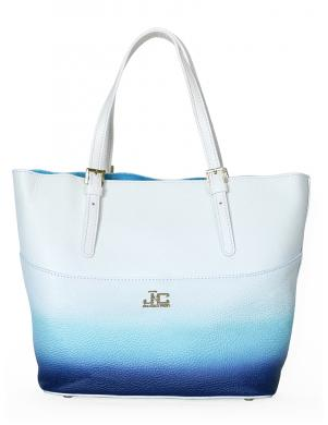 J&C Balta/zila ādas soma