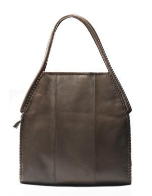 PIERRE CARDIN brūnas krāsas ādas sieviešu soma