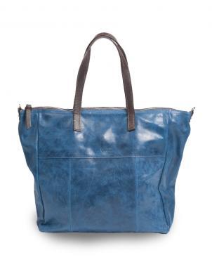 PIERRE CARDIN sieviešu zila dabīgas ādas soma liela ar diviem rokturiem