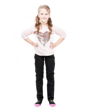 SILVIAN HEACH KIDS melnas krāsas bikses meitenei