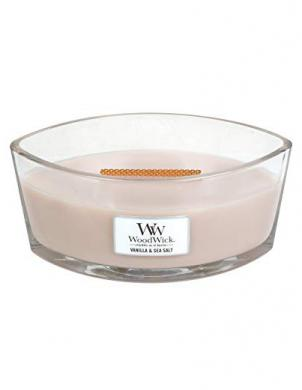 WOODWICK HEARTHWICK VANILLA & SEA SALT liela svece