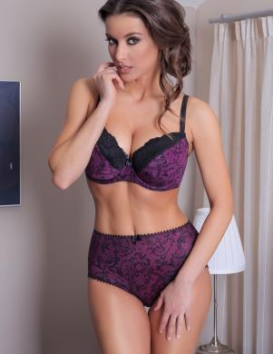 VALEA sieviešu violetas/melnas krāsas krūšturis ar daļēji mīkstinātu bļodiņu Svetla