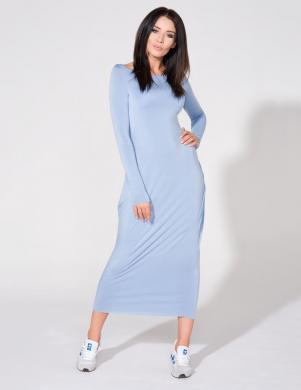TESSITA zilas krāsas gara pieguļoša kleita