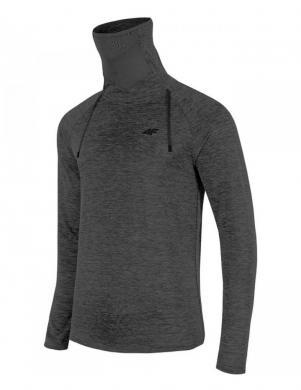 Tumši pelēks vīriešu termo krekls ar augstu apkakli BIMD001G 4F
