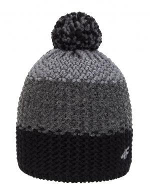 Pelēka vīriešu cepure ar vilnu CAM156 4F
