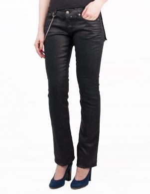 RICHMOND DENIM melnas krāsas stilīgas sieviešu džinsa bikses