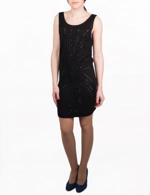RICHMOND DENIM stilīga melnas krāsas sieviešu kleita ar dekoratīviem spīdumiem