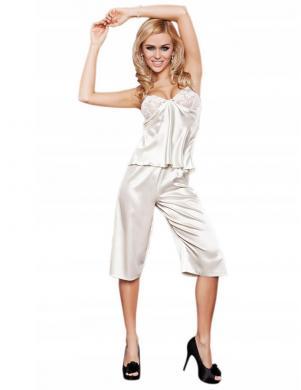 DKAREN krēmīgas krāsas sieviešu pidžama Emma