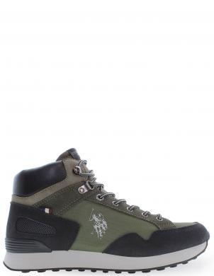 U.S.POLO vīriešu zaļi zamšādas ikdienas apavi-zābaki