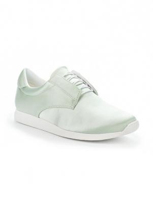 Sieviešu spīdīgi gaiši zaļi tekstīla brīva laika apavi Kasai VAGABOND