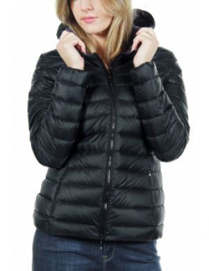 GEOX melnas krāsas dūnu sieviešu jaka ar kapuci