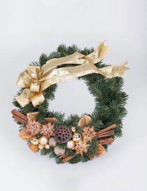 PINUS dekoratīvs egļu zaru vainags, 35 cm