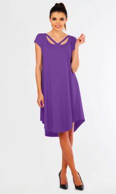 LENTAL violētās krāsas sieviešu asimetriska kleita WIKI