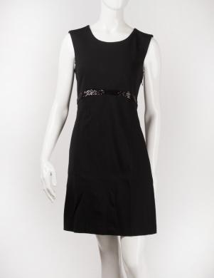 STEFANEL melna sieviešu kleita