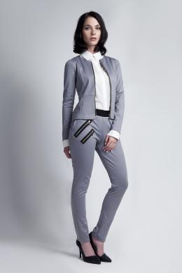 LANTI pelēkas krāsas sieviešu jaka ar rāvējslēdzēju