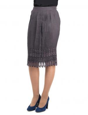 JOHN RICHMOND stilīgi sieviešu melnas krāsas svārki no bambusa