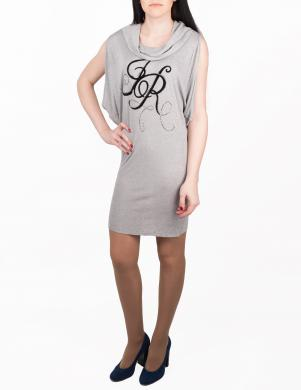 JOHN RICHMOND pelēkas krāsas stilīga sieviešu kleita-tunika