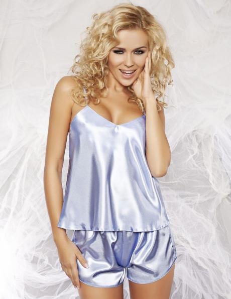 DKAREN zilas krāsas satīna sieviešu pidžama