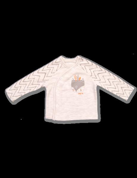 Bēšas krāsas kokvilnas bērnu krekls Funny Fox LAFEL