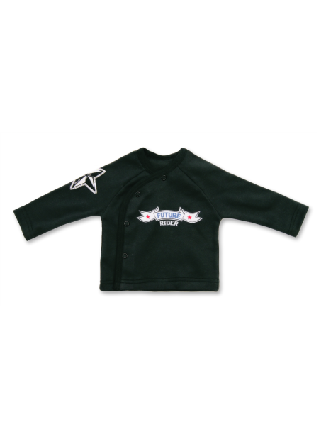 Melnas krāsas kokvilnas bērnu T- krekls Rider LAFEL