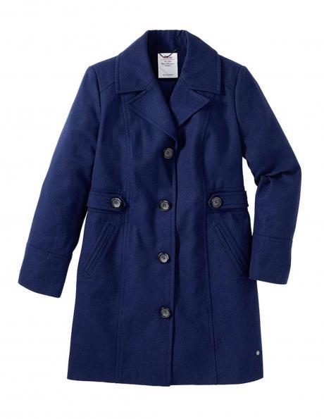 S. OLIVER zilas krāsas stilīgs sieviešu mētelis