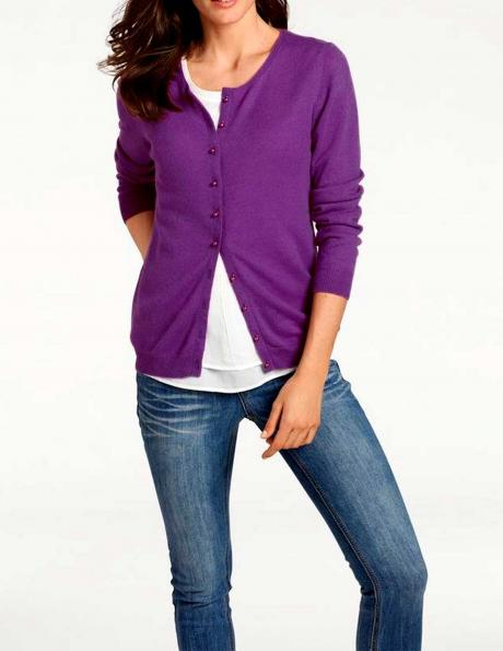 Violets kašmira džemperis PATRIZIA DINI